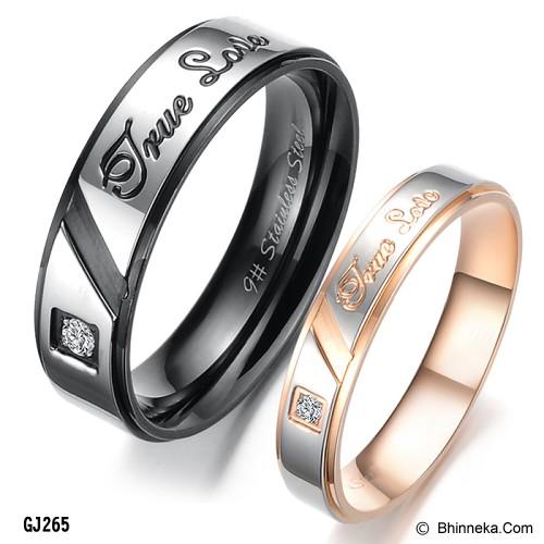TITANIUM RING Cincin Couple Size 7(F) & 7(M) [GS299] - Gold & Silver - Cincin